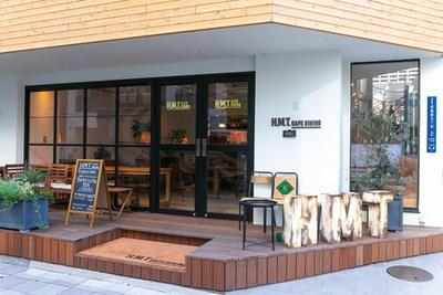 ガラスに金箔をはったアメリカングラスサイン/H.M.T. CAFE DINING
