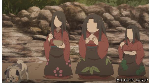 「かくりよの宿飯」第13話の先行カットが到着。葵が弱った銀次を介抱しているうちに…
