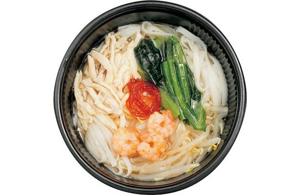海老と蒸し鶏のスープビーフン(ファミリーマート/395円)