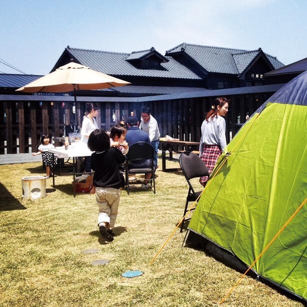 夢の湯ガーデン キャンプ場 / BBQセットがレンタルできるので食材を持参するだけ