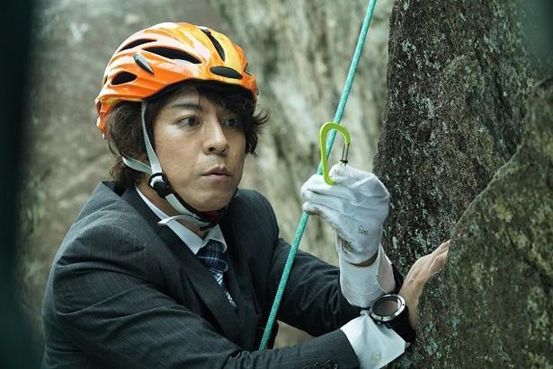 上川隆也がロッククライミングに初挑戦