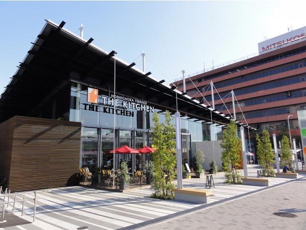 """新館 """"THE KITCHEN""""は2015年にオープン。こだわりグルメが揃う"""