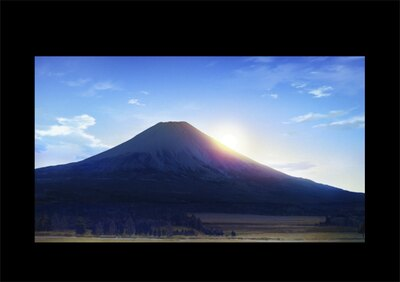 富士山や高原はもちろん、犬やオブジェ、逆さ富士が写る池など、劇中に登場する建物や景色が実在する