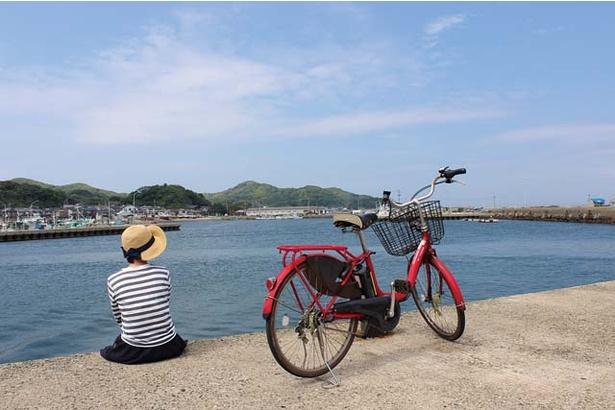 大島観光案内所では500円でレンタサイクルできる