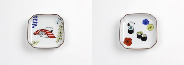 【写真を見る】KUTANI SEALとコラボした「角小皿※全4種」(各2052円)