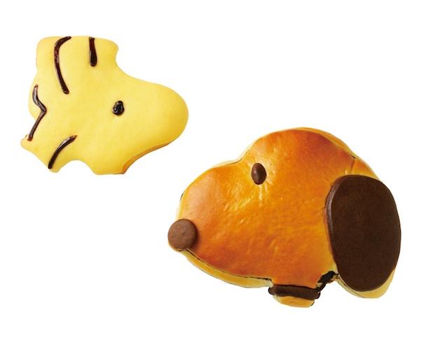ジョアンの「スヌーピーパン※全2種」(各756円)、「ウッドストックパン※全2種」(各594円)
