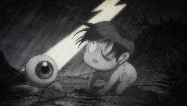 「ゲゲゲの鬼太郎」第14話の先行カットが到着。まなとねこ娘が夢の世界に夢中になり!?