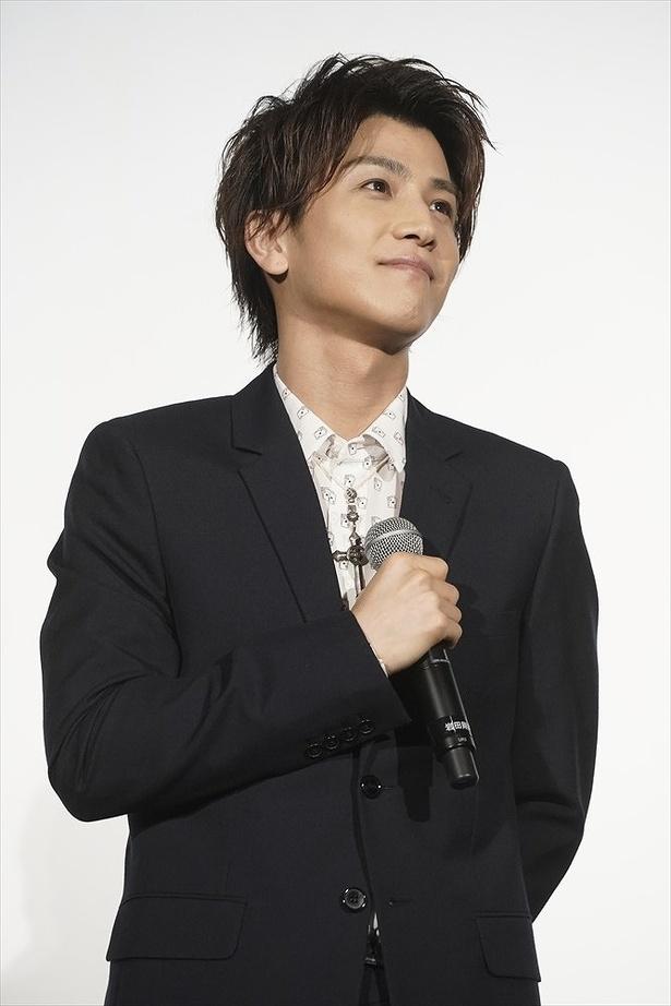 岩田剛典が「ウタモノガタリ―」の舞台あいさつに登壇した