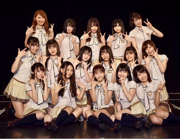 SKE48チームKⅡ「最終ベルが鳴る」公演初日のメンバー16人