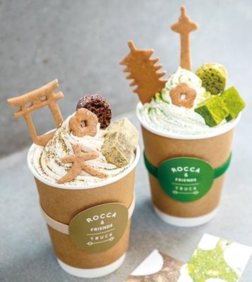 トラックを改装したコーヒーと日本茶専門のスタンド/ROCCA&FRIENDS TRUCK