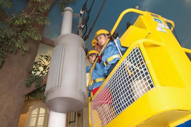 【写真を見る】街で突然、停電が発生!みんなで協力して復旧させよう/キッザニア甲子園