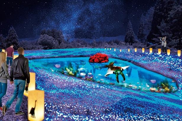 【写真を見る】最先端技術を駆使した壮大なイルミ!1周約1.9キロメートルの敷地に約60万球の電球が点灯する