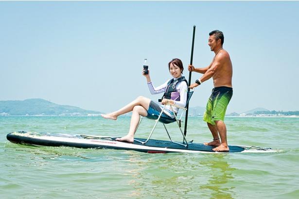 「パンタイバグース」のスタンドアップパドルサーフィン体験  / 2人乗りなど楽しみ方は他にもいろいろ♪