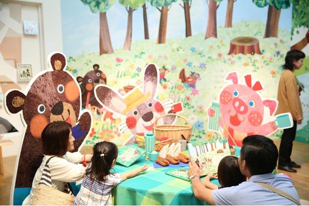数々の人気絵本の世界を表現した空間展示は大人も子供も楽しめる
