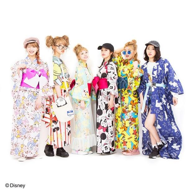 「ディズニー浴衣コレクション」 全6柄 パニカムトーキョー(税抜 各12000円)