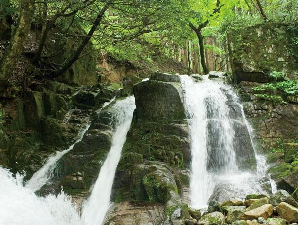 花崗岩の間を流れる三室渓谷/三室渓谷