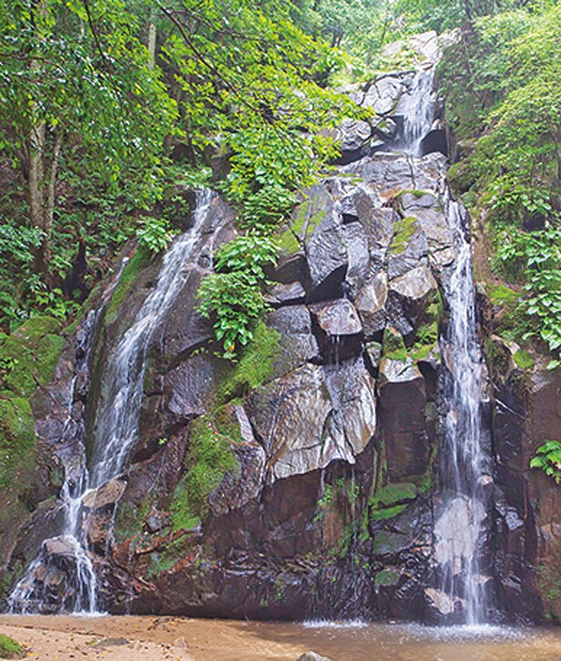 向かって左側を流れるのが女滝/金引の滝
