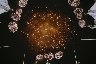 頭上に広がる360度全天ドームスクリーンを使って上映される「STAR ISLAND IN PLANETRIUM」。全ての席が特等席といえる