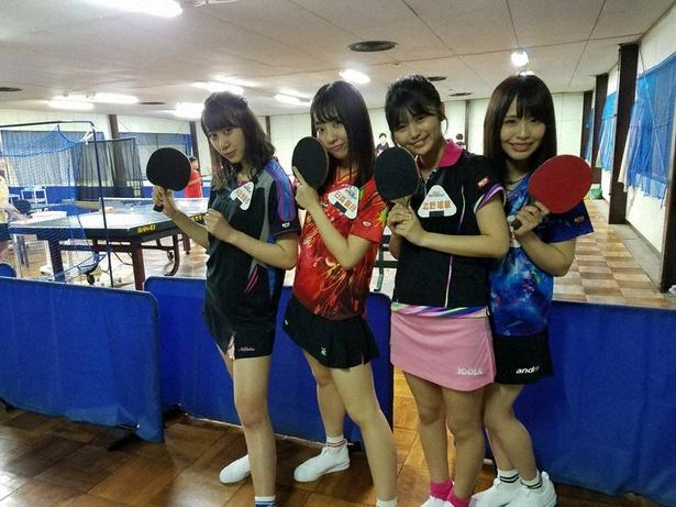 SKE48が地元・愛知の天才卓球少女に挑む