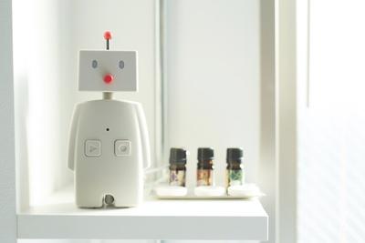 メッセージを喋ってくれる見た目もかわいいロボット「BOCCO」がある客室も