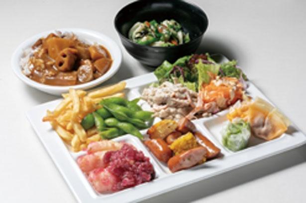 使う野菜は全50種類/大阪高島屋 屋上ビアガーデン キラビア ベジプラススタイル