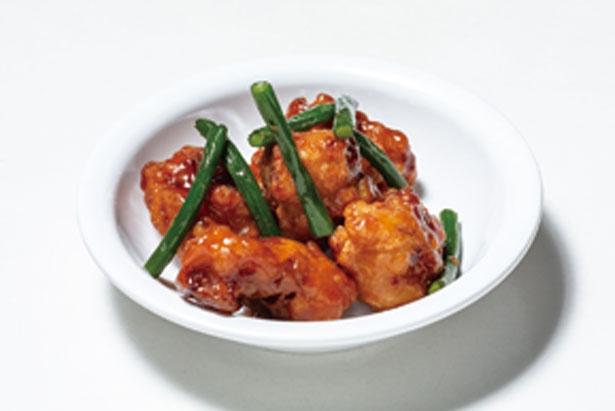 【第1位】鶏唐揚とニンニクの芽のガリバタ醤油/大阪高島屋 屋上ビアガーデン キラビア ベジプラススタイル