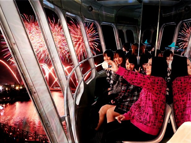 【写真を見る】「シーパラダイスタワー 花火観覧展望台」の時間は20:20~20:45、各日先着20人までなので、早めにチケットを購入しよう