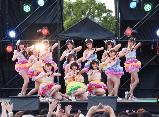 「アイドル横丁夏まつり!!~2018~」でアイドルたちの熱い夏が開幕。虹のコンキスタドールがメインステージに登場した