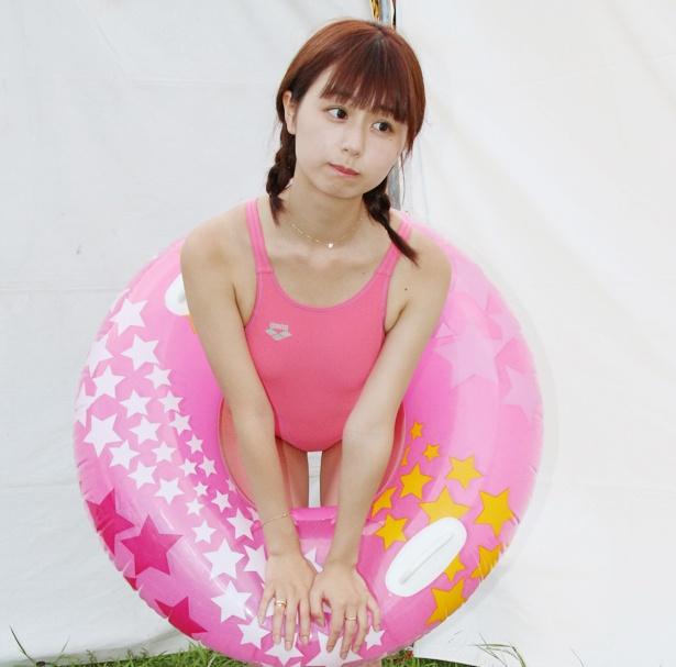 栗田恵美さんの水着