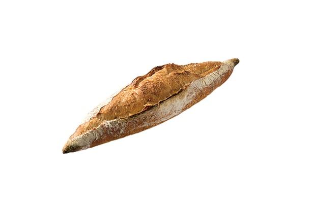 「ORTO's Bakery cosses」の「レトロバゲット」(200円)。ゆっくり発酵させることで、小麦の味、香りがアップ!