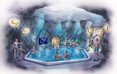 洞窟風呂が幻想的な世界に変身!? (画像はイメージ)