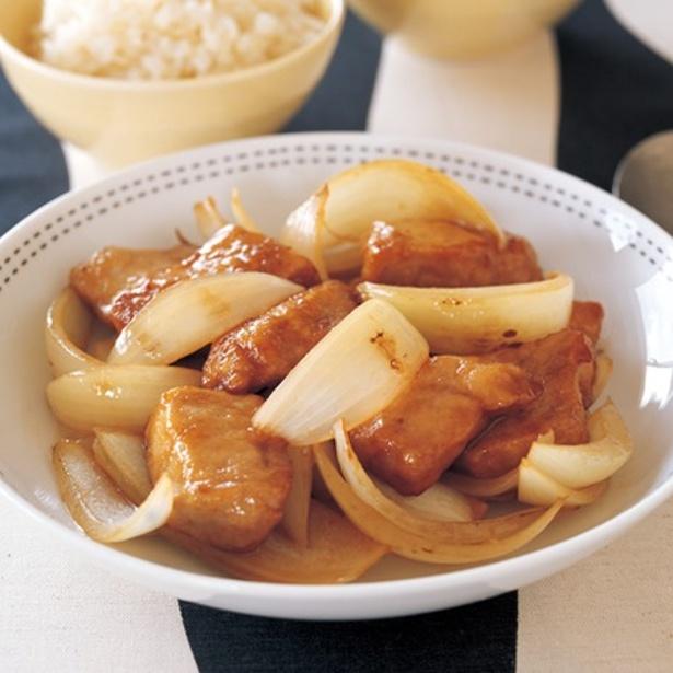 「玉ねぎポン酢豚」