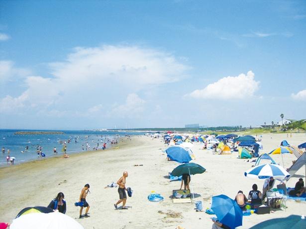 白い砂浜、透明度の高い美しい海を求めて、毎年多くの人が訪れる