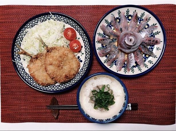 夕食に並ぶその日の釣果。色々な種類が釣れるのが海釣りの楽しさ