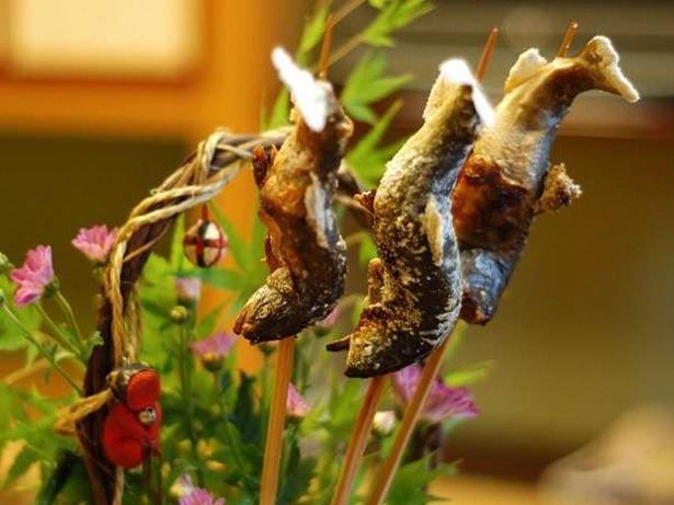八ツ三館では「鮎・岩魚・あまごの川魚三種食べ比べプラン」を用意
