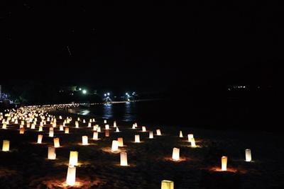 8月下旬にはキャンドルナイトを開催予定。優しいキャンドルの明かりが夜の海に浮かび上がる