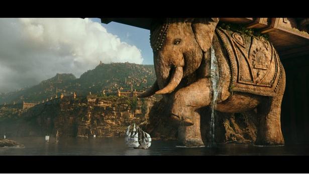 とてつもないほどのスケールの大きさはインド映画の底力を感じさせる(『バーフバリ 王の凱旋』より)