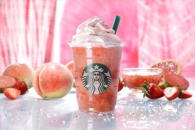 7月20日(金)から発売の「ピーチ ピンク フルーツ フラペチーノ」