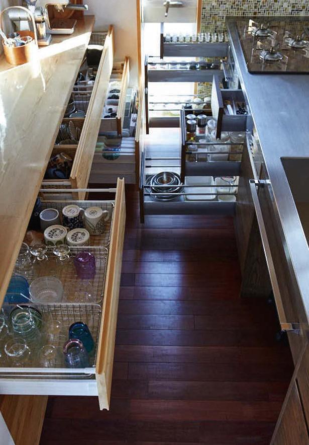 ムダのない動線を考えたキッチン収納