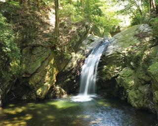 「本宮山県立自然公園」の南西部に位置。絶景が広がる本宮山山頂を目指すハイキングも人気/くらがり渓谷