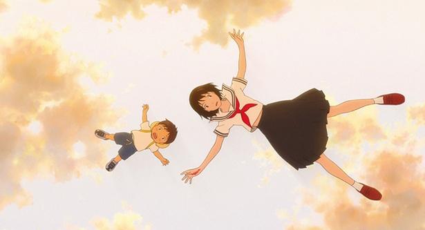 """4歳のくんちゃんは、ある日、自分のことを""""お兄ちゃん""""と呼ぶ不思議な少女・ミライちゃんと出会う"""