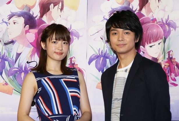 「つくもがみ貸します」で共演する小松未可子と榎木淳弥(左から)
