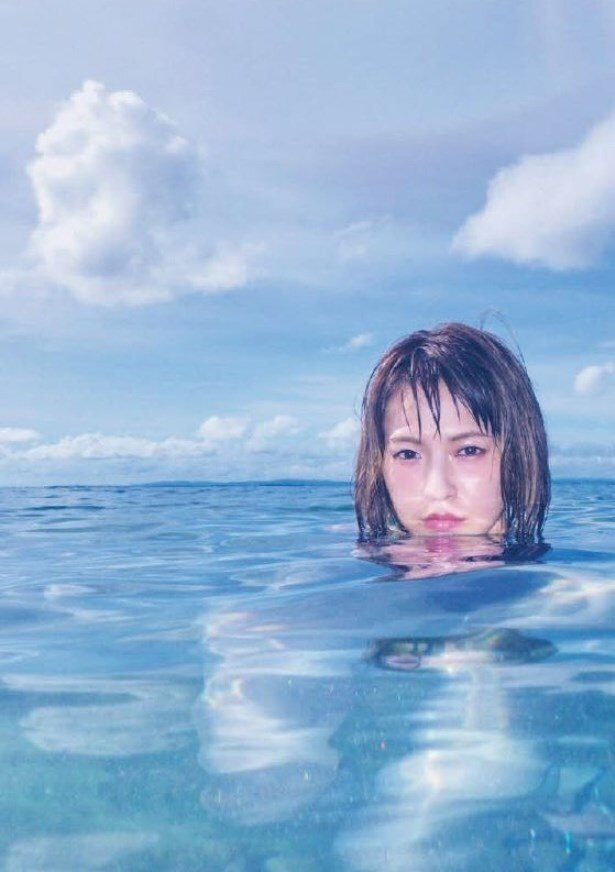水の中からこんにちは