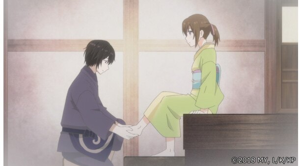 「かくりよの宿飯」第16話の先行カットが到着。葵が松葉の朝食を作ることになったが!?