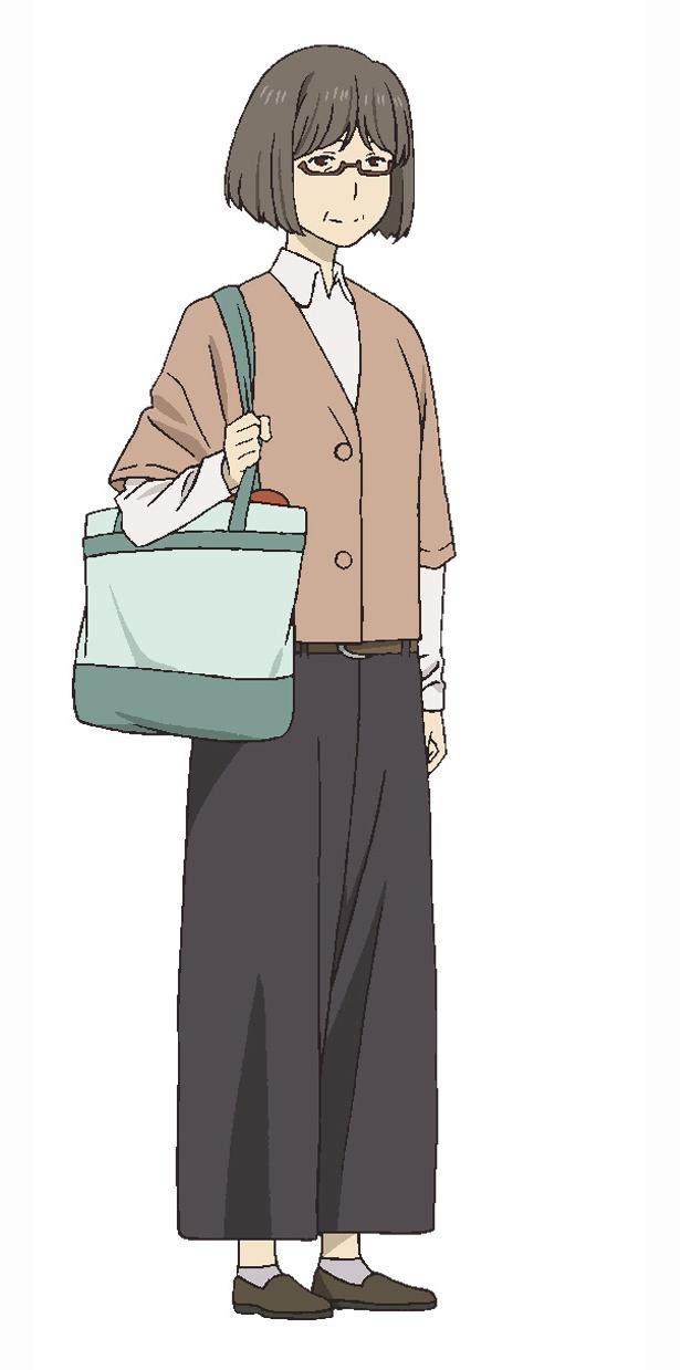 島本須美が演じる津村容莉枝。レイコと面識のある切り絵作家の女性。 夏目と出会い、 息子の椋雄とともに交流していく