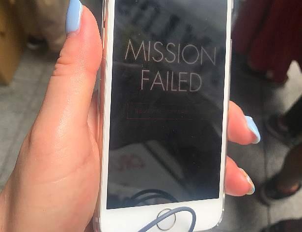 無情にも画面には「MISSION FAILED(ミッション失敗)」の文字が…