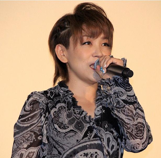 舞台挨拶に登壇した松本梨香