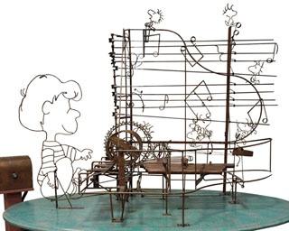 大谷芳照が制作した、「ピーナッツからくりオブジェ」。天才音楽少年のシュローダーの演奏が聴ける!?