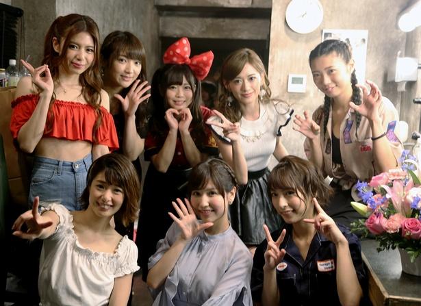 セクシー女優8人が出演した音楽ライブ「ミルジェネソニック!2018」