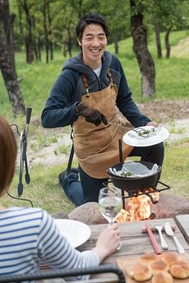 キャンプマスターが目の前で調理する